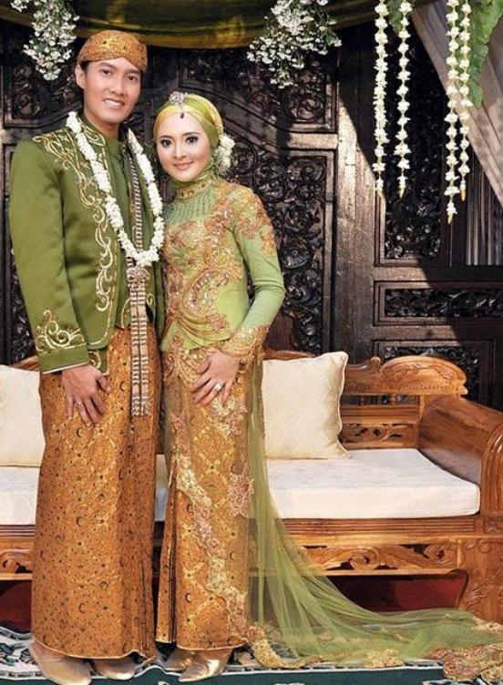model kebaya baju pengantin muslim romantis modelbusana