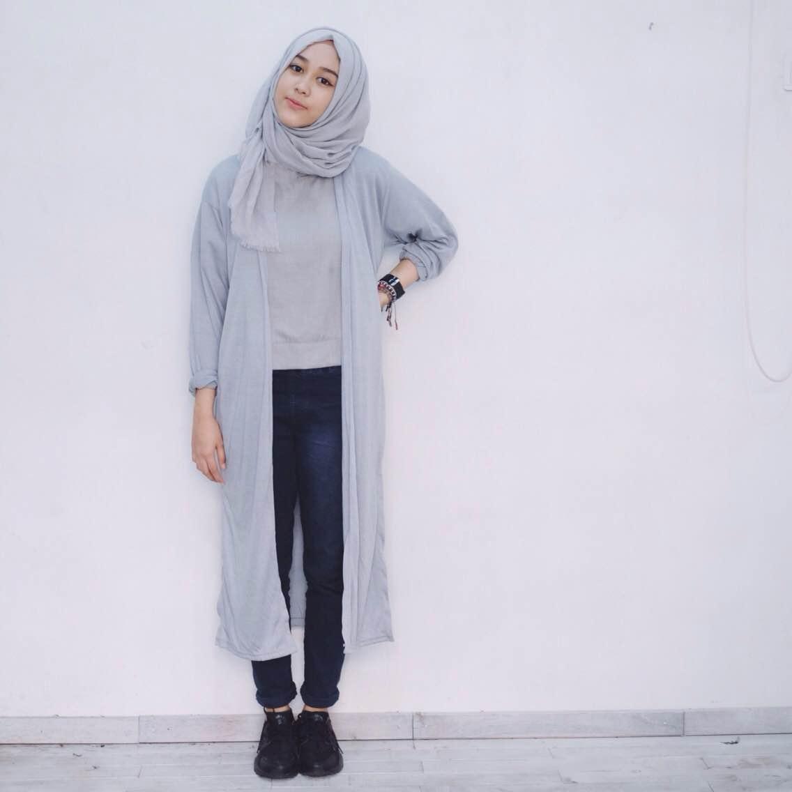 model hijab cantik untuk hangout paling hits