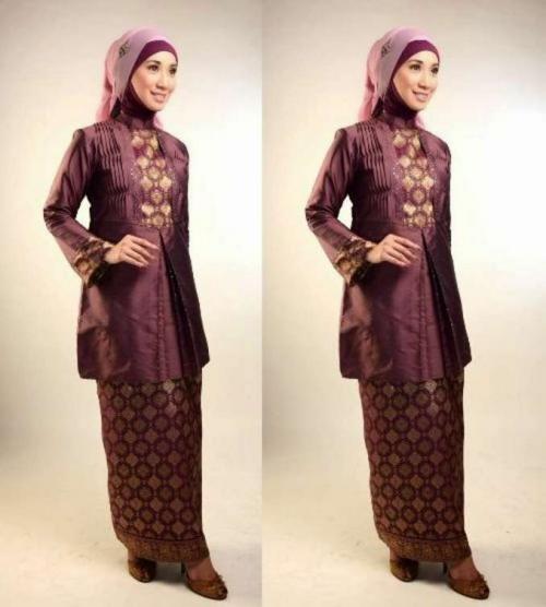 model baju batik muslim untuk pesta sangat simple