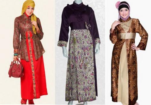 model baju batik muslim untuk pesta yang manis
