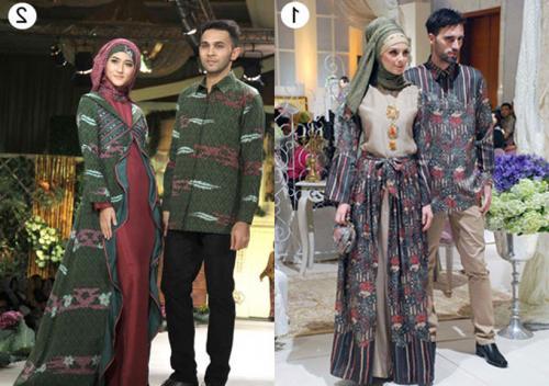 model baju batik muslim untuk pesta yang mewah